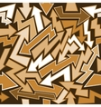Graffiti Arrows Seamless Background vector image
