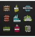 Second big set music equalizer logotype vector image vector image