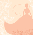 bride card pink vector image