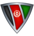 steel shield with flag afghanistan vector image vector image