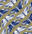 butterfly pattern background vector image