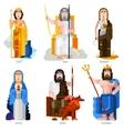 Olympic Gods Decorative Icons Set vector image