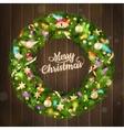 Christmas wreath EPS 10 vector image