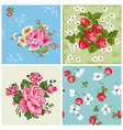 Set of Seamless Vintage Floral backgrounds vector image