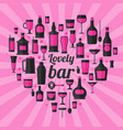 alcohol drinks icon set flat style eps10 vector image