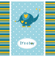 Baby shower with cute elephant vector image