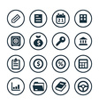 Business icons universal set vector image