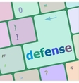 computer keyboard keys with word defense vector image