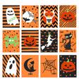 Halloween postcard set vector image
