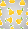 Seamless Pear Background vector image