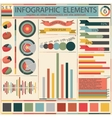 Set elements of retro infographics vector image
