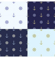 set of seamless pattern with anchor ship steering vector image