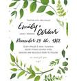 Wedding invitation floral invite card design with vector image