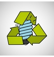 bulb energy eco recycle concept graphic vector image