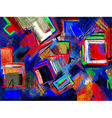 original hand draw abstract digital painting compo vector image vector image