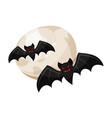 halloween vampire bats and a full moon halloween vector image