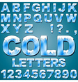 Ice Cold Letters vector image