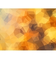 Golden polygon abstract background vector image vector image