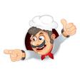 funny italian chef vector image vector image