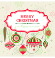 Christmas background with place for text vector image