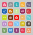 Retirement community line flat icons vector image