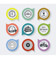 Set of vintage retro premium quality badges and vector image vector image