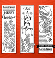 Black and white Christmas banners vector image
