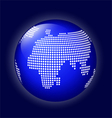 Blue globe with dotted map vector image