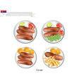 cevapi or cevapcici the national dish of serbia vector image
