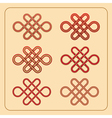 Chinese endless knot vector image