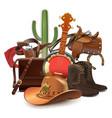 cowboy concept with banjo vector image