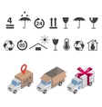 delivery icons set vector image