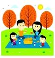Family Fun Picnic at The Park vector image