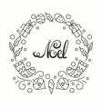Noel Card Winter Holiday Typography Handdrawn vector image