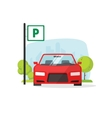 Parking lot with sign isolated vector image