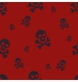 Skull Pattern Red vector image