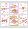 St Valentines Day cards vector image