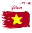 vietnam flag brush strokes painted vector image