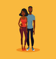 young african american couple vector image