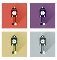 Set of flat web icons with long shadow Christmas vector image