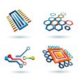 micro scheme vector image vector image
