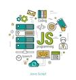 JS line art concept vector image vector image