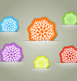 Color christmas flakes in a pocket collection vector image vector image
