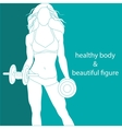 healthy body and beautiful figure vector image