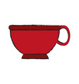 cup silhouette draw vector image