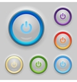 Glowing Power Button Set vector image vector image