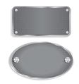 Metal steel plate vector image