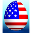 Easter egg with USA flag vector image vector image