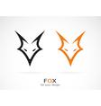 image of an fox face design vector image
