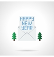 Happy New Year letter flat color icon vector image